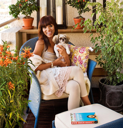 Kerry Washington with her Shorkie from Us